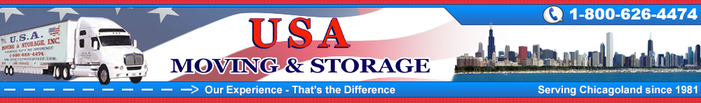 USA Moving and Storage, serving Chicagoland since 1987