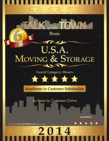 Talk of the Town - Award for Chicago Movers - 2011