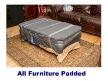 All furniture padded